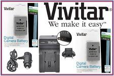 Hi Cap Vivitar 2-Pcs 2300 mAh EN-EL14a Li-Ion Battery & Quick Charger For Nikon