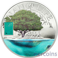 Cook Islands 2015 NANO LIFE $5 Proof Silver Coin 50 grams Evolution Chip insert