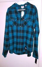 NWT NFL Levi's Mens Jacksonville Jaguars Plaid - Flannel Western Shirt XL Teal