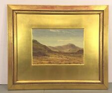 Albert Hartland Watercolor Ptg The Moors and Sheep Grazing 1875 Framed & Matted