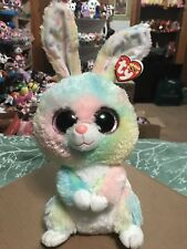 Ty Bubby -Multicolor Pastel Easter Rabbit Beanie Boo Buddy *Retired* Rare & Vhtf