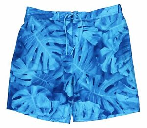 "Speedo UV 50+ TurboDri Kalo Palms Men's 20"" Board Shorts Swimwear XXL NWT Blue"