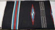 Vintage Wool Hand Woven Rug Ortega's Weaving Shop Chimayo New Mexico 26.5 x 86