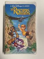 💎RARE Black Diamond Classic Walt Disney's The Rescuers Down Under- VHS Tape 💎