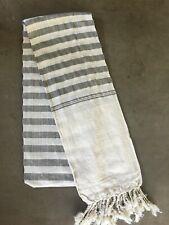 Krama Gray White Traditional Scarf Khmer Cotton Woven Scarf Cambodia 102