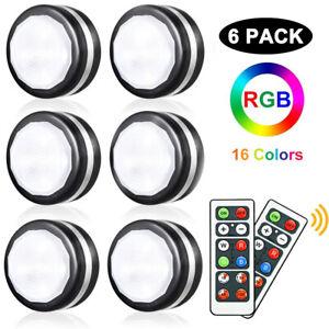 LED RGB Schrankbeleuchtung Spot Spots Lampe Vitrinenbeleuchtung Batteriebetrie
