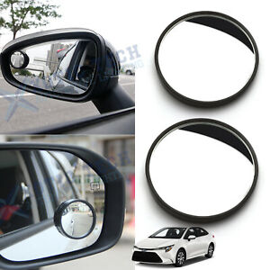 2pcs Round Stick On Rear-view Wide Angle Blind Spot Convex HD Mirrors For Toyota