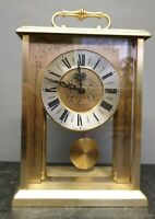 Vintage Glass Cased Bracket Clock with a Bell Strike Spares or Repair