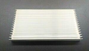 2pcs 200x100x18mm Silver Tone Aluminium Heat Diffuser Heat Sink Cooling Fin