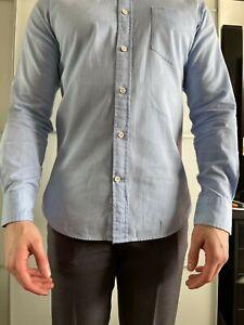 T.M.Lewin Casual Slim White Statement Twill Standard Collar Shirt