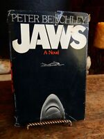1974 First edition Jaws Peter Benchley Book Dust Jacket $6.95