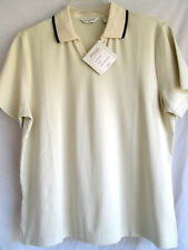 PING..LADIES..SHORT SLEEVE..PULLOVER..COTTON..BEIGE..GOLF..TOP..NWT..sz L..$75