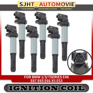 6x Ignition Coils fit BMW 1/3/5/7 Series E39 E46 E53 E60 E83 325i 330i 525i 530i
