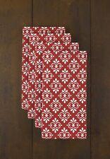 "Christmas Damask Red 18"" x 18"" Napkins 1 Dozen"