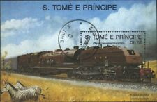 Sao Tome e Principe block208 (complete.issue.) fine used / cancelled 1989 Locomo