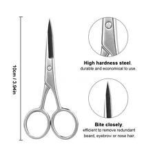 1pcs Beard Mustache Scissor Eyebrow Nose Hair Shaver Trimmer Shear Scissor D3A6