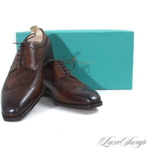 NIB #1 MENSWEAR Edward Green England Harrogate Oak 888 Wingtip Shoes 11.5 12 NR