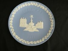 """Vintage Wedgwood Annual Christmas Porcelain Plate Picadilly Circus 8"""" 1971"""