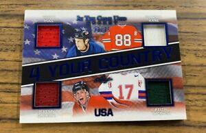 2020-21 LEAF IN THE GAME USED BRETT HULL/PATRICK KANE/JEREMY ROENICK/KEITH 23/35