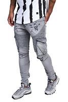 Herren Jeans Hose Regular Skinny Fit Cargo Jeanshose Stretch 3103 John Kayna