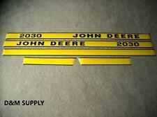 John Deere 2030 tractor decal set later models hood
