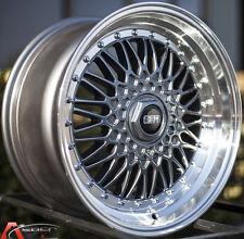 17X8.5 STR STR606B Wheels 5x100/114.3 +30 GunMetal Rims Fits Impreza Rsx Corolla