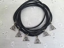 6 HARRY POTTER DEATHLY HALLOWS CHARM BRACELETS ON GUMMY BANDS PARTY BAG GIFT