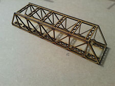 Laser Cut N Gauge Single Track Braced Girder Bridge Kit 3mm MDF 28cms Long