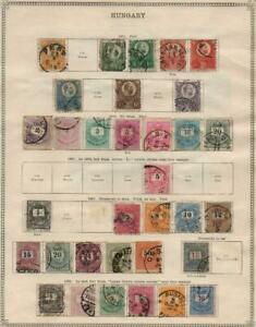 HUNGARY: 1871-1900 Examples - Ex-Old Time Collection - 2 Sides Page (41050)