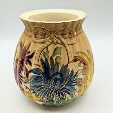 New listing Antique R 00004000 oyal Denton Burslem Hand Painted Floral Biscuit Jar Vase - No Lid