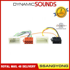 CT20SY02 Car Stereo ISO Wiring Harness Adaptor Lead for SsangYong Tivoli 2015 >