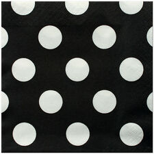 16 Lunch Size Party Napkins-Ladybug Party Theme/Black N White Party Theme