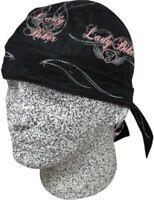 Lady Biker Motor Wings Doo Rag Headwrap Skull Cap Durag Sweatband Capsmith