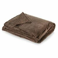 Dreamscene Luxury Waffle Honeycomb Soft Warm Throw Over Sofa Bed Blanket - 125 x