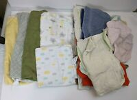 Baby Burp Cloths, Swaddle Blankets, Washcloths Rags AS-IS Lot