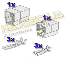 Set Connector Housing 3-fach Cable Splice Plug Car Tractor Motorcycle Truck Boat