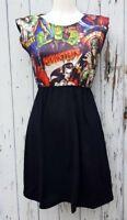 Horror Movie Black Dress - Size 10 12 14 - Vampire Werewolf Skater Rockabilly