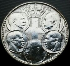 Uncirculated 1963 Greece 30 Drachma Silver Coin 1 Year Issue KM#86