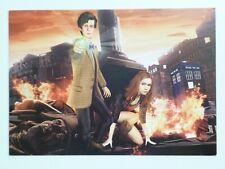 Doctor Who The Adventures Games BBC Wales promo postcard Matt Smith Karen Gillan