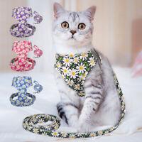 Pettorina e Guinzaglio gatto antifuga regolabile imbracatura per cani gatti S-L