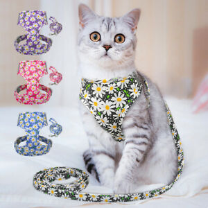 Cat Harness and Lead Escape Proof for Outdoor Walking Reflective Pet Dog Vest