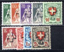 SCHWEIZ DIENST 1938 37-45z ** POSTFRISCH GERIFFELTER GUMMI (I2867