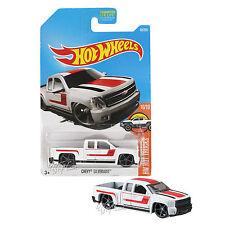 NEW 2017 Hot Wheels 1:64 Die Cast Car HW Hot Trucks Series White Chevy Silverado