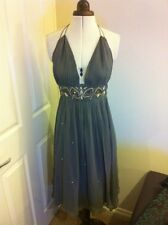 Stunning Diab'Less silk jewel grey dress size 2
