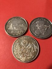 Christmas 1 troy oz Silver round lot of 3