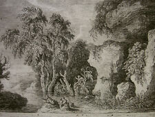 WEIROTTER `FAMILIE BEIM ANGELN; ÜBERBLEIBSEL AUF DEM BERG PALATIN´ W. 168, ~1767