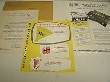 1955 Vintage United Motors Service Letter & Delco Battery & funnel posters