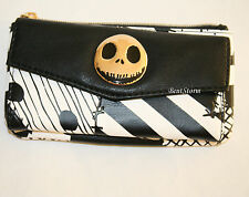 Disney The Nightmare Before Christmas Jack Patchwork Zip & Snap Flap Wallet NEW