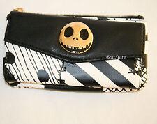 Disney The Nightmare Before Christmas Jack Patchwork Zip & Snap Flap Wallet NEW
