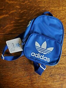 NWT adidas Originals Trefoil Santiago Mini Backpack Blue White
